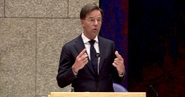 Prime Minister Mark Rutte during a debate in Parliament over face masks. 30 Sept. 2020