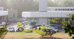 A trauma helicopter on the ground in Arnhem. 15 Aug. 2020