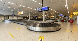 The empty baggage area at Schiphol Airport during the Covid-19 pandemic. 22 July 2020