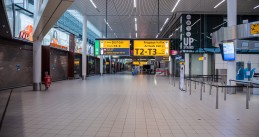 An empty Schiphol Airport terminal during the Covid-19 pandemic. 27 June 2020
