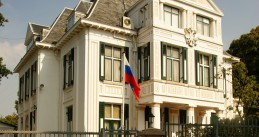 Embassy of the Russian Federation on Andries Bickerweg in The Hague. 18 August 2009