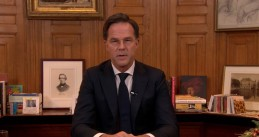 Prime Minister Mark Rutte speaking about the Netherlands entering a lockdown on 14 Dec. 2020