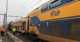 Train derailment in the Hague