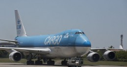 A KLM Cargo plane at the Ezeiza Airport near Buenos Aires in Argentina