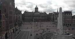 Dam Square remained mostly empty once strict personal distancing measures were in effect. March 28, 2020