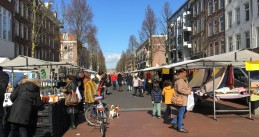 Dappermarkt in Amsterdam after coronavirus announcement