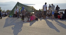 Asylum seekers on Lesbos