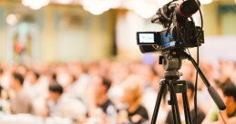 Camera focused on a studio audience