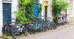 A bike rental spot in Veere, Zeeland