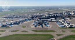 Planes parked at Schiphol, 25 March 2020