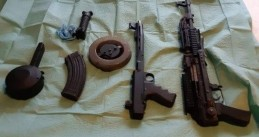 Automatic firearms seized from a home in Beverwaard, Rotterdam, 24 February 2020
