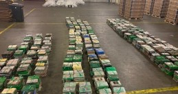 4,500 kilos of cocaine found in a banana shipment at a Vlissingen company, 29 April 2020