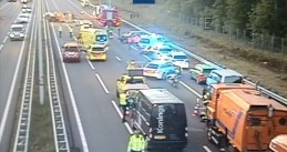 At least one person was killed in an accident caused by a wrong way driver on the A12 near Maarsbergen, 29 May 2020
