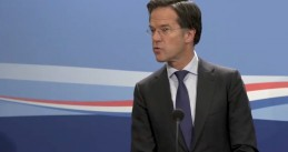 Mark Rutte at a press conference on May 8, 2020