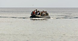 Asylum seekers crossing the North Sea on an inflatable dingy