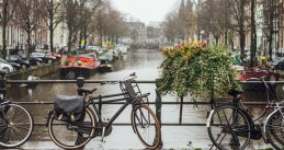 Rainy day in Amsterdam