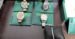 Rolex watches seized in Westsland in a money laundering investigation, June 2020