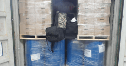 Duffel bags filled with 212 kilograms of cocaine in a shipment of printer ink from Brazil. July 25, 2020