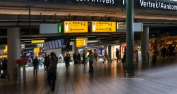 Departure and Arrival halls at Schiphol