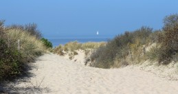 On the way to the beach in Cadzand-Bad