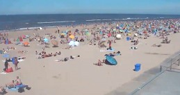 Beachgoers filled up the sand at Castricum, Noord-Holland. 31 July 2020