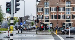 Traffic lights in Amsterdam