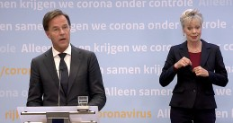 Mark Rutte speaking at a press conference on September 1, 2020