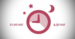 Portion of a Dutch government poster warning of a curfew during the coronavirus lockdown. January 2021