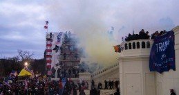 Tear gas fired on a horde of rioters who stormed the U.S. Capitol in Washington D.C. 6 Jan. 2021