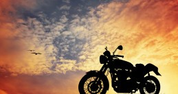 Motorcyle at sunset