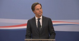 Mark Rutte announcing the early end of his third Cabinet governing the Netherlands. 15 Jan. 2021