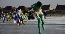 Skating marathon on natural ice, 8 February 2012