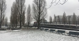 A blustery, snowy day in Amsterdam Oost. 7 Feb. 2021