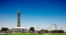 The Aspire Sports Stadium in Doha, Qatar