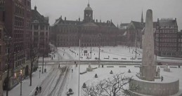 Amsterdam covered in snow