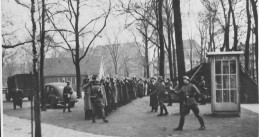 German soldiers gather Jewish men on Jonas Daniël Meijerplein in Amsterdam, 22 February 1941