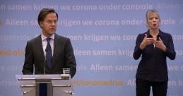 Prime Minister Mark Rutte updating the Dutch public on the coronavirus situation in the Netherlands. 23 Feb. 2021