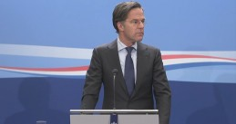 Prime minister Mark Rutte during press conference February 12, 2021