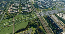 Plans for a park on the roof of the A9 tunnel in Amsterdam Zuidoost