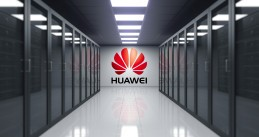 Huawei logo in server room