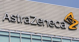 AstraZeneca logo on a building.