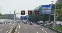 Matrix signs on the A10 ring road in Amsterdam