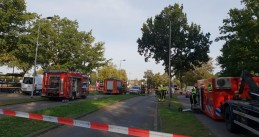 Emergency services at the scene of a fatal rail accident on Braakstraat in Oss, four children were killed, 20 Sept 2018