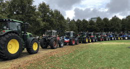 Farmers protest on Malieveld in The Hague, 1 October 2019