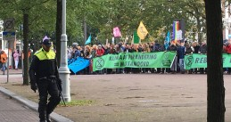 Climate protest by Extinction Rebellion on Stadhouderskade in Amsterdam, 7 October 2019