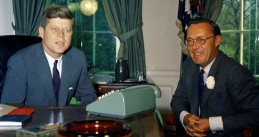 President Kennedy and Prince Bernhard