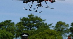 The use of drones by police departments around the world to easily monitor crowds of people is increasing. (credit Daily Mail)