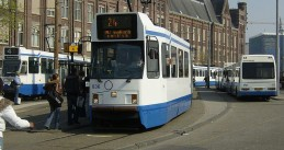 Amsterdam Centraal Trams