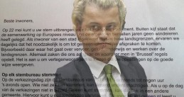 Euro support letter with Wilders
