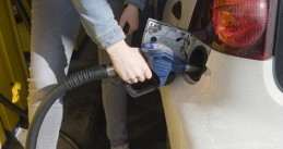 Pumping diesel at petrol stations